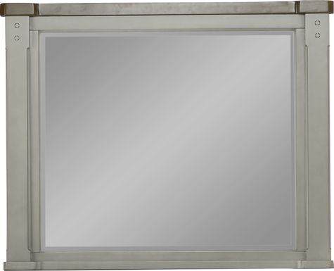 Cottage Town Gray Mirror