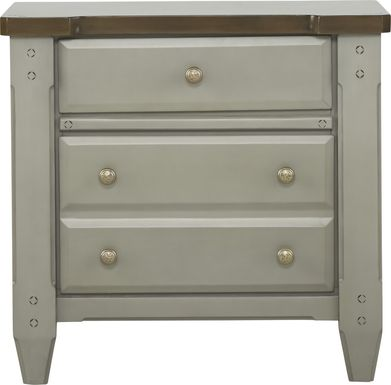 Cottage Town Gray Nightstand