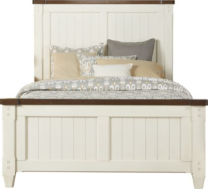 Cottage Town White 3 Pc King Panel Bed