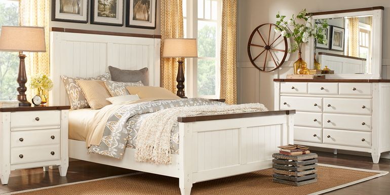 Cottage Town White 5 Pc Queen Panel Bedroom