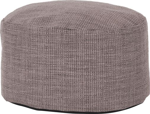 Cottner Gray Pouf