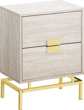 Cove Points Gold Accent Table