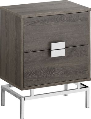Cove Points Taupe Accent Table