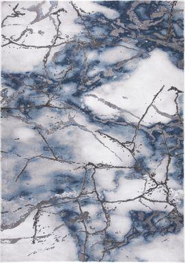 Cracked Marble Blue 8' x 10' Rug
