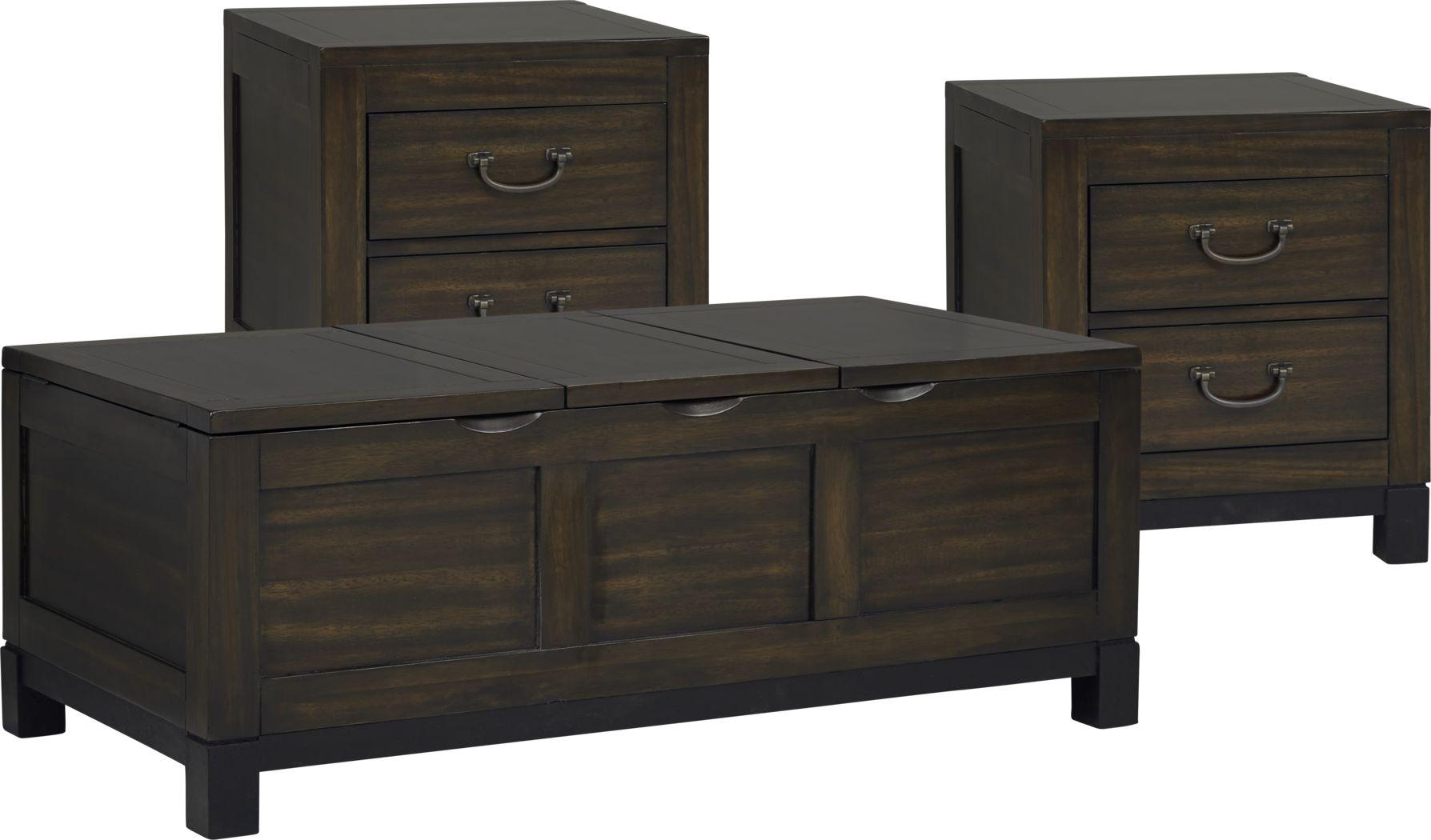 Cranwell Walnut 3 Pc Table Set