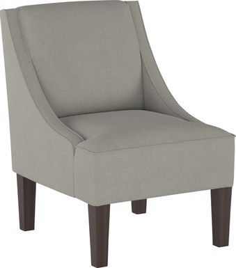 Creamy Hues Gray Accent Chair