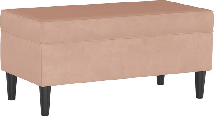 Creamy Hues Pink Storage Bench