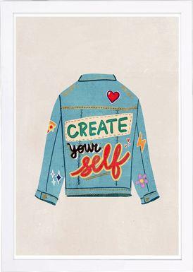 Creative Jacket Blue Artwork
