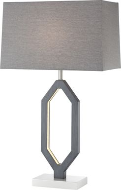 Creek Stone Gray Lamp