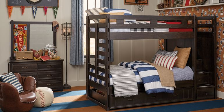 Creekside Charcoal Twin/Twin Step Bunk Bed