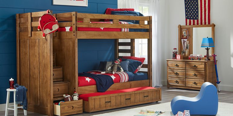 Creekside Chestnut Twin/Twin Step Bunk Bed