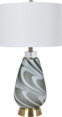 Crescent Lane Olive Lamp