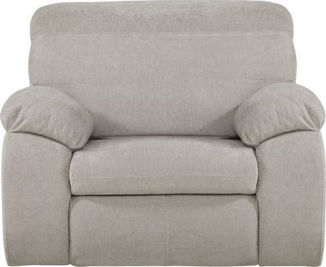 Crescent Place Gray Power Recliner