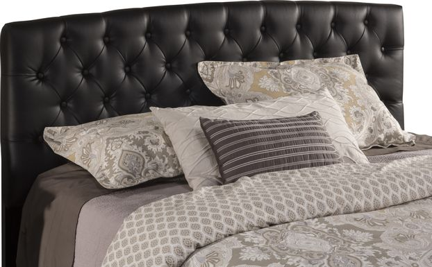 Cresta Black King Upholstered Headboard