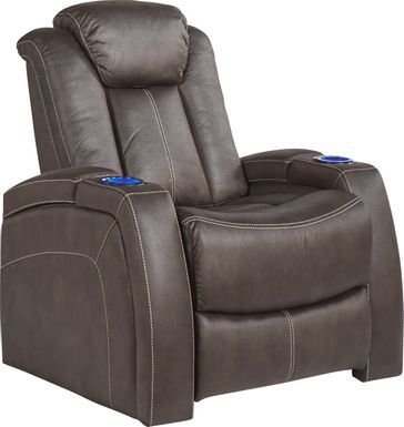 Crestline Brown Dual Power Recliner