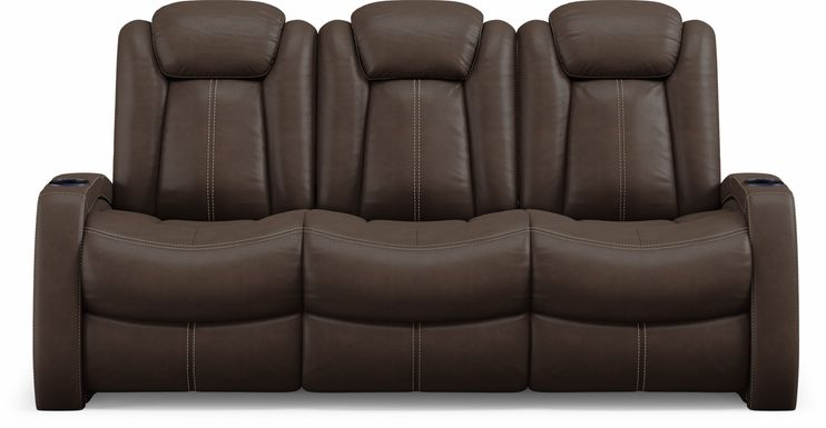Crestline Brown Dual Power Reclining Sofa