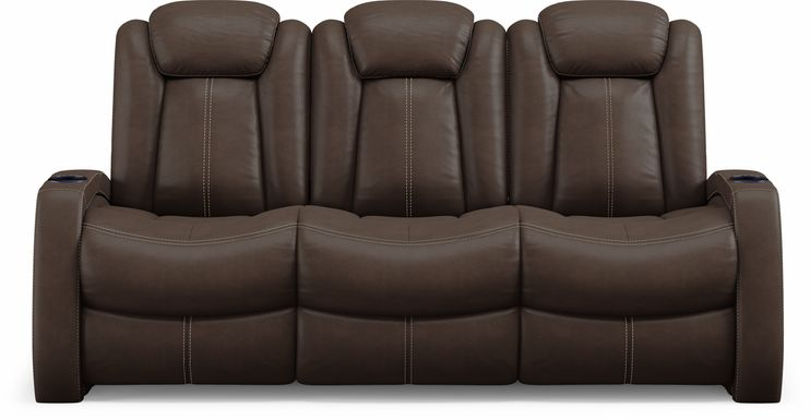 Crestline Brown Dual Power Reclining Sofa