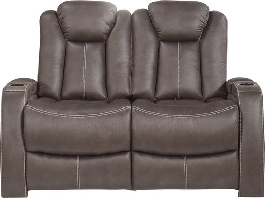 Crestline Brown Stationary Loveseat