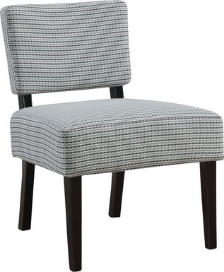 Crestover Light Blue Accent Chair