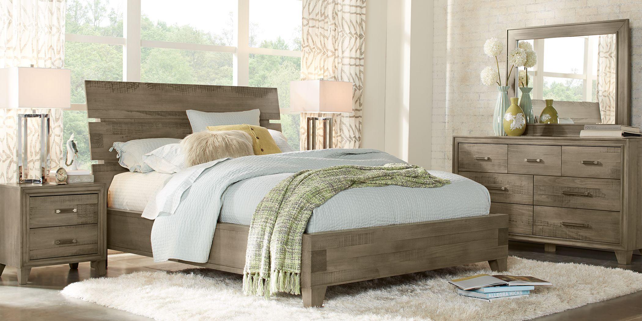 Crestwood Creek Gray 5 Pc King Panel Bedroom