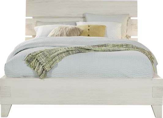 Crestwood Creek Ivory 3 Pc King Panel Bed