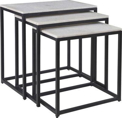 Crispin Black Set of 3 Nesting Tables