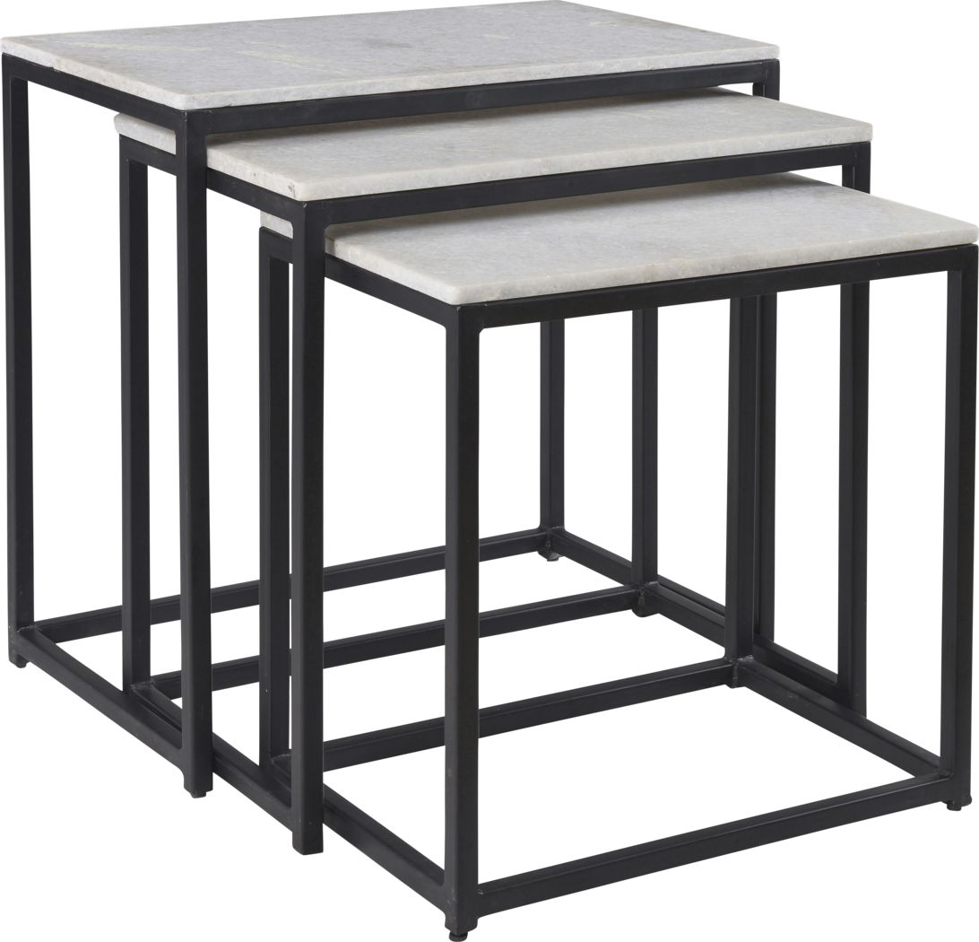Crispin Black Set of 3 Nesting Tables