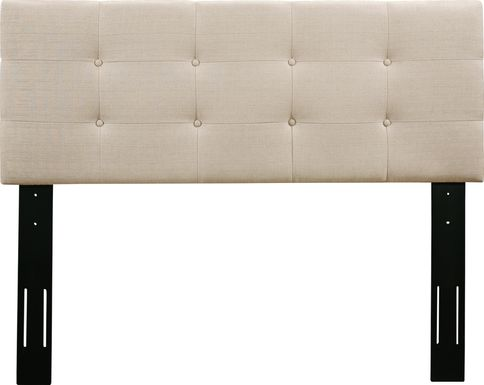 Criswell Beige Twin Upholstered Headboard
