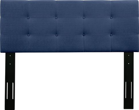 Criswell Blue Twin Upholstered Headboard