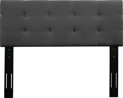 Criswell Dark Gray Twin Upholstered Headboard