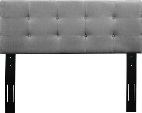 Criswell Gray Twin Upholstered Headboard