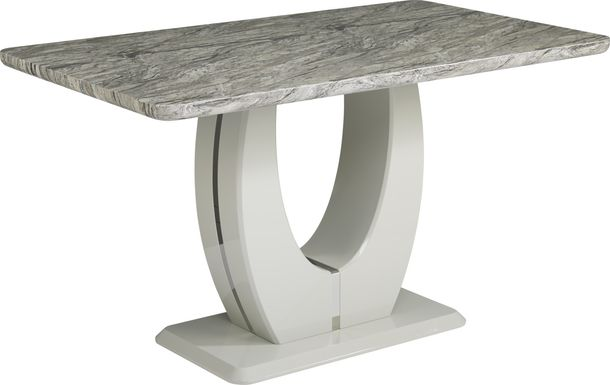 Crown Court Light Gray Counter Height Dining Table