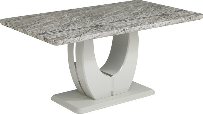 Crown Court Light Gray Dining Table