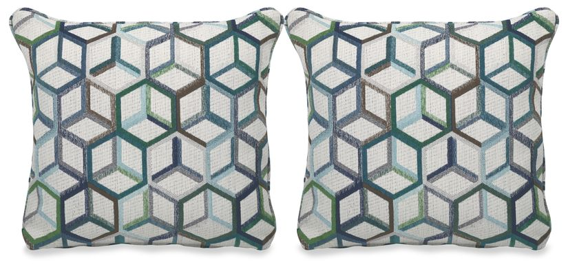 Cubism Emerald Accent Pillow (Set of 2)