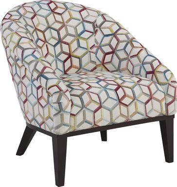 Cubism Fuchsia Accent Chair