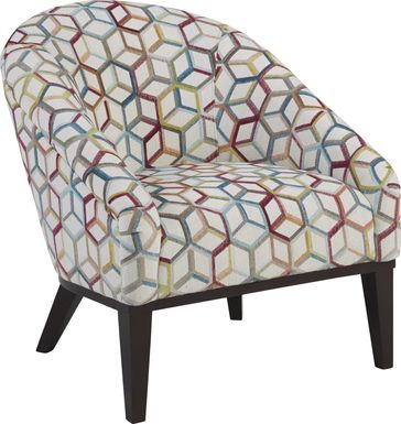 Cubism Fuchsia Accent Chair