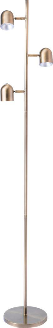 Cunningham Court Brass Floor Lamp