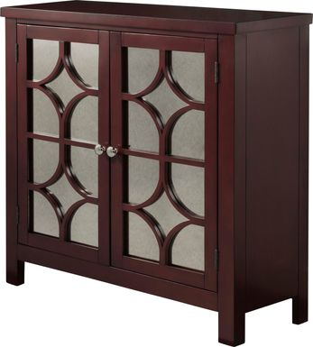 Cuthart Red Accent Cabinet
