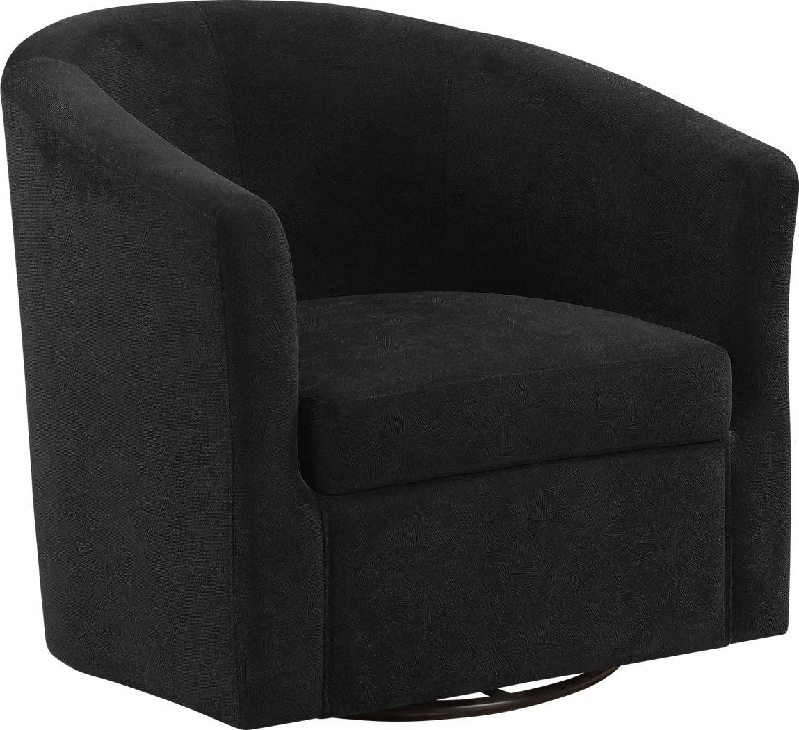 Cuttino Black Accent Swivel Chair