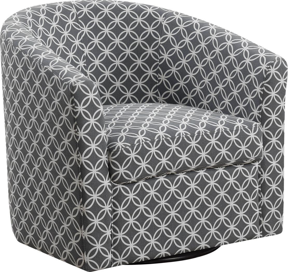Cuttino Gray Accent Swivel Chair