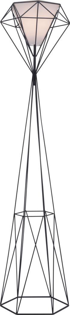 Cypress Way Black Floor Lamp