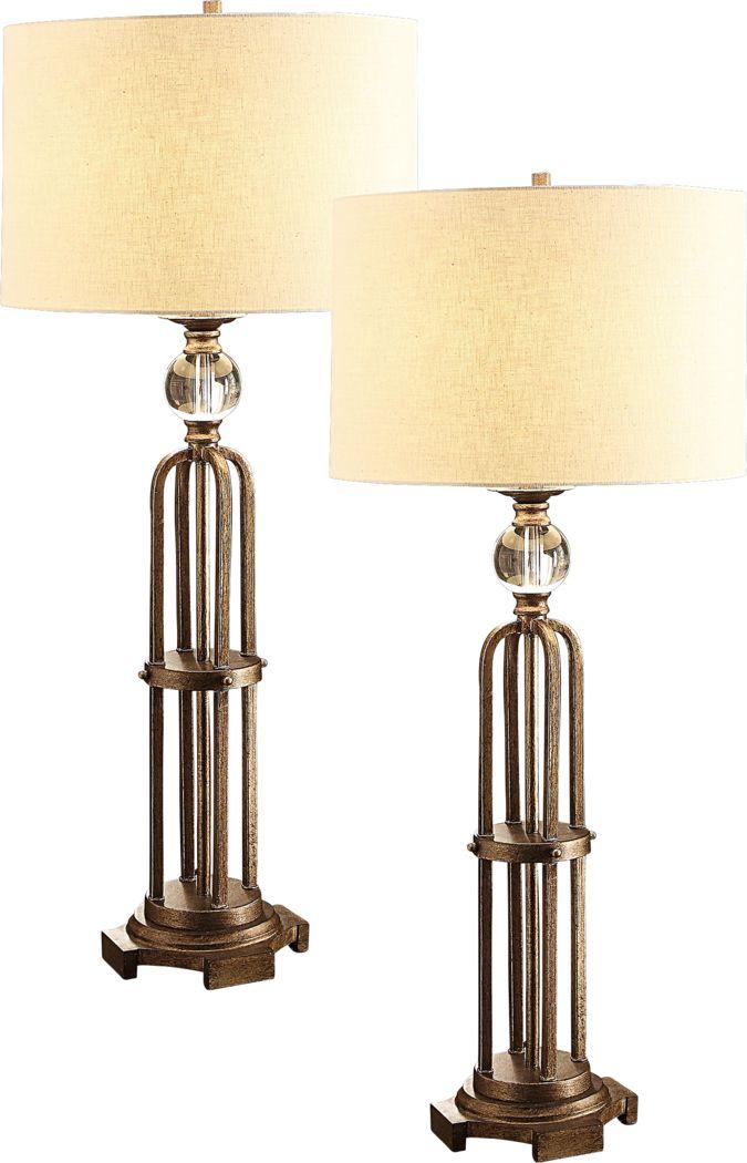 Dagmar Nights Bronze Lamp, Set of 2