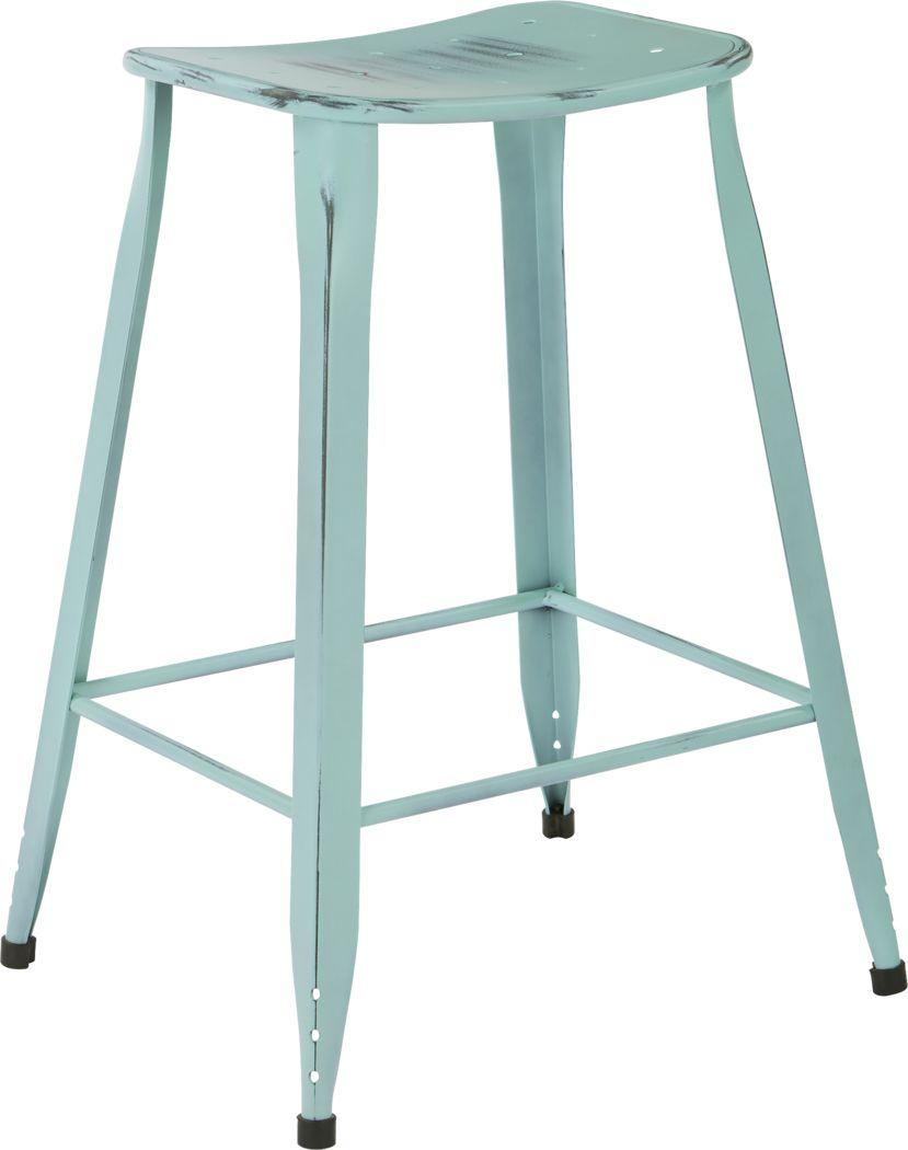 Dakin Blue Counter Height Stool (Set of 2)