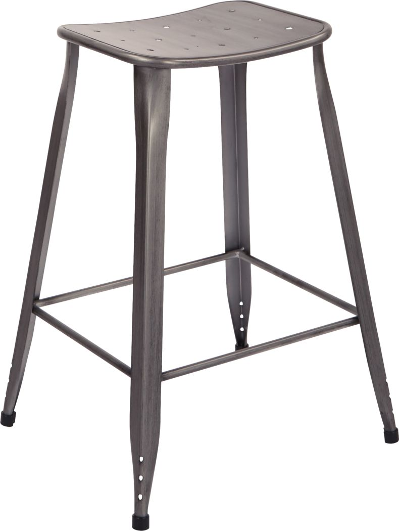Dakin Gray Counter Height Stool (Set of 2)