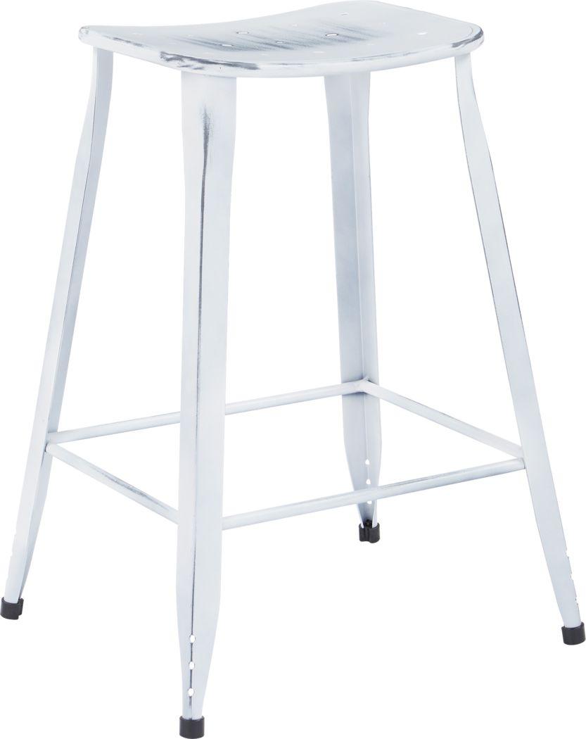 Dakin White Counter Height Stool (Set of 2)
