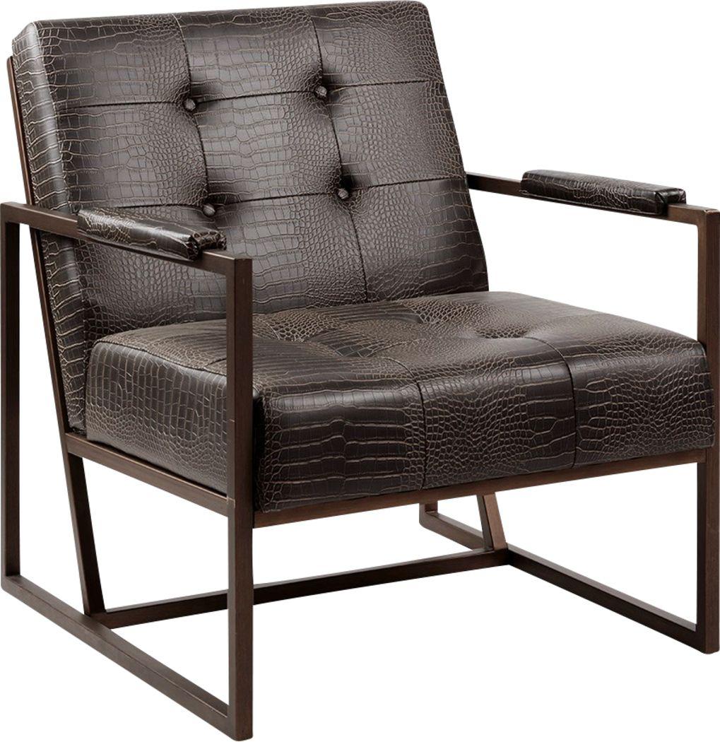 Dalark Brown Accent Chair