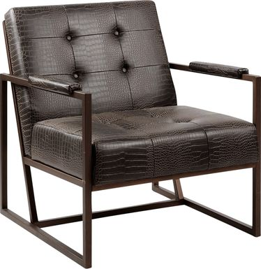 Dalark Brown Accent Chair