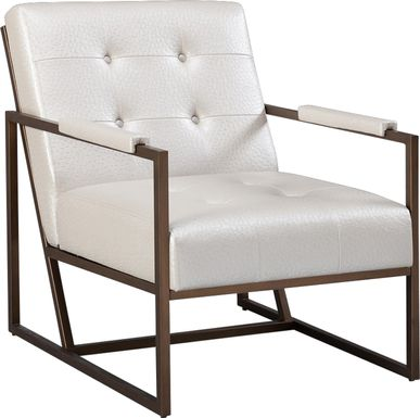 Dalark White Accent Chair