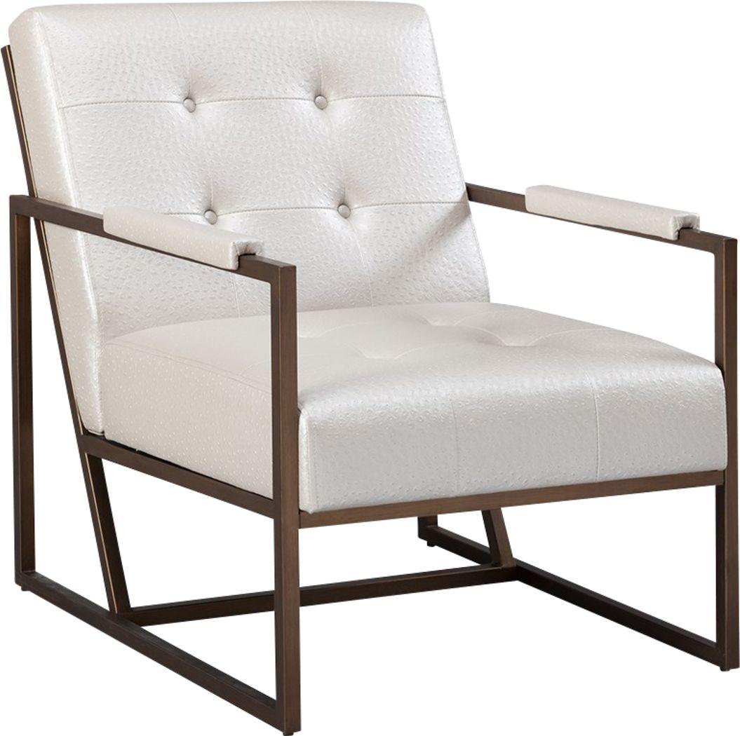 Dalark White Accent Chair
