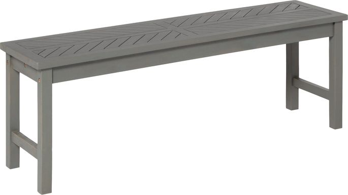 Dalea Gray Outdoor Accent Bench